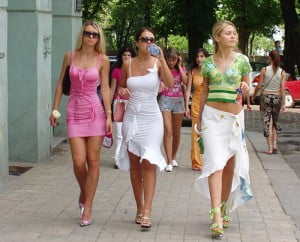 Ukrainian Girls on the streets of Kiev