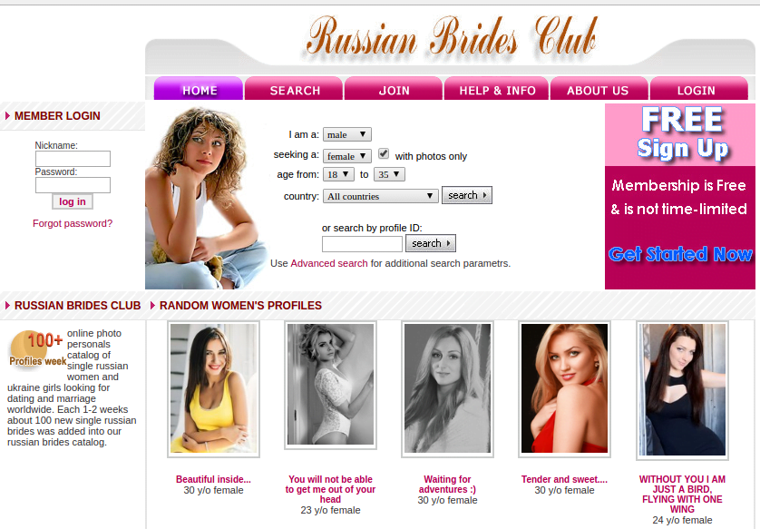 Russian brides club site